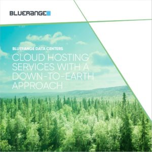 Framsida på broschyr om Bluerange Datacenter